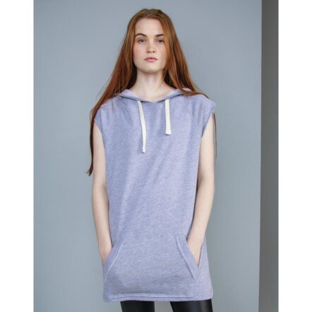Women`s Oversized Sleeveless Hoodie